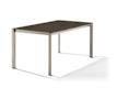 Sieger Tisch 160 x 90 cm Aluminium champagner / HPL Granit
