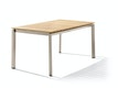 Sieger Tisch 160 x 90 cm Aluminium champagner / Teak