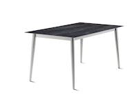 Sieger Lofttisch Polytec® 160 x 90 Rundrohr Aluminium graphit / HPL Zement anthrazit
