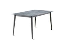Sieger Lofttisch Polytec® 160 x 90 Rundrohr Aluminium eisengrau / HPL Zement graphit