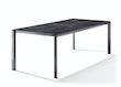 Sieger Tisch 220 x 100 cm Aluminium eisengrau / HPL Zement anthrazit