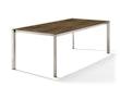 Sieger Tisch 220 x 100 cm Aluminium champagner / HPL Bronze