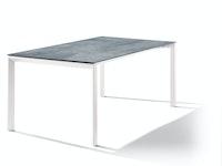 Sieger Ausziehtisch 180/235 x 100 cm Aluminium weiß / HPL Zement graphit