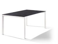 Sieger Ausziehtisch 180/235 x 100 cm Aluminium weiß / HPL  Zement anthrazit