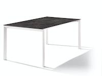 Sieger Ausziehtisch 180/235 x 100 cm Aluminium weiß / HPL Beton dunkel