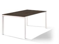 Sieger Ausziehtisch 180/235 x 100 cm Aluminium weiß / HPL Granit