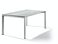 Sieger Ausziehtisch 180/235 x 100 cm Aluminium graphit / HPL Moon