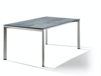 Sieger Ausziehtisch 180/235 x 100 cm Aluminium graphit / HPL Zement graphit