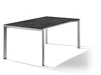 Sieger Ausziehtisch 180/235 x 100 cm Aluminium graphit / HPL Beton dunkel