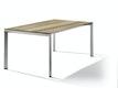 Sieger Ausziehtisch 180/235 x 100 cm Aluminium graphit / HPL Eiche hell