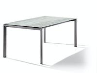 Sieger Ausziehtisch 180/235 x 100 cm Aluminium eisengrau / HPL Moon