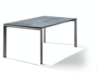 Sieger Ausziehtisch 180/235 x 100 cm Aluminium eisengrau / HPL Zement graphit