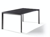 Sieger Ausziehtisch 180/235 x 100 cm Aluminium eisengrau / HPL Zement anthrazit
