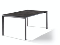 Sieger Ausziehtisch 180/235 x 100 cm Aluminium eisengrau / HPL Beton dunkel