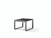 Sieger Loungetisch 60 x 60 x 44 cm Aluminium eisengrau / HPL Beton dunkel