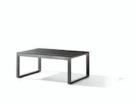 Sieger Loungetisch 105 x 70 x 44 cm Aluminium eisengrau / HPL Beton dunkel