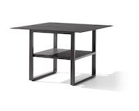 Sieger Dining-Loungetisch 105 x 105 x 69 cm Aluminium eisengrau / HPL Beton dunkel