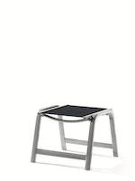 Sieger Hocker ROYAL Aluminium graphit / Kunststoffgewebe grau