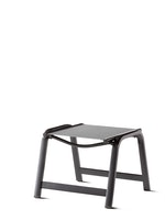 Sieger Hocker ROYAL Aluminium eisengrau / Kunststoffgewebe hellgrau