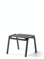 Sieger Hocker CADIZ Aluminium eisengrau / Kunststoffgewebe grau