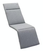 Sieger Auflage für Relaxliege ca. 164x 49 x 4 cm, Dralon® (100 % Polyarcryl) grau