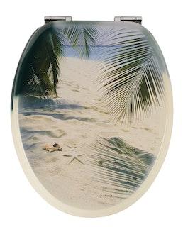 Sanitop WC-Sitz Dekor Beach mit Soft-Schließ-Komfort und Fast Fix