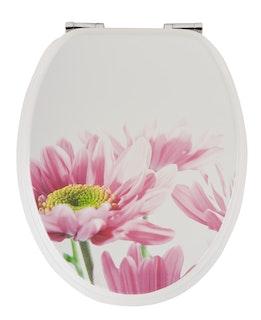 Sanitop WC-Sitz Dekor Blütenzauber mit Soft-Schließ-Komfort und Fast Fix