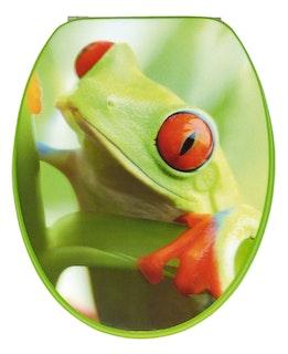 Sanitop WC-Sitz Dekor Frosch 3-D mit Fast Fix