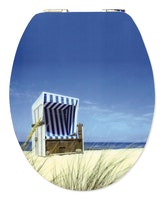 Sanitop WC-Sitz High-Gloss Dekor Strandkorb