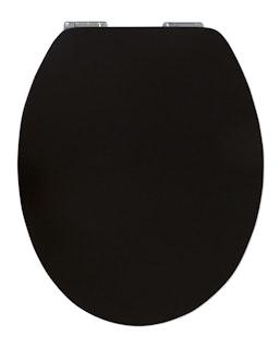 Sanitop WC-Sitz High-Gloss Pure Black mit Soft-Schließ-Komfort