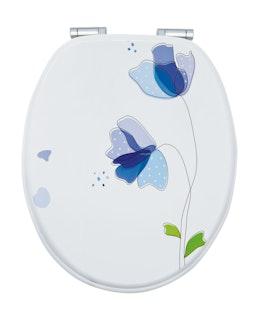 Sanitop WC-Sitz Dekor Flora Blau