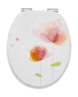 Sanitop WC-Sitz Dekor Flora Rot