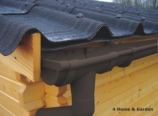 Kunststoff Dachrinnenset für Skan Holz Pavillon Cannes