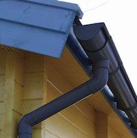 Kunststoff Dachrinnenset für Skan Holz Carport Sauerland