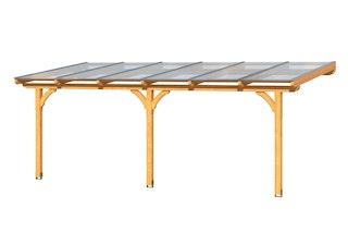 Skan Holz Terrassenüberdachung Rimini Douglasie mit Mittelpfosten Breite 648 cm