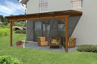 Skan Holz Terrassenüberdachung Ravenna o. Mittelpfosten Breite 541 cm aus Douglasie