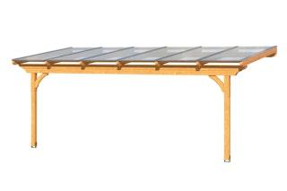 Skan Holz Terrassenüberdachung Ravenna aus Douglasie o. Mittelpfosten Breite 648 cm