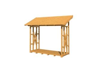 Skan Holz Holzunterstand Kaminholzunterstand Paul 2