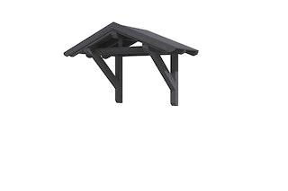 Skan Holz Satteldach Vordach Einzeltür Siegen schiefergrau Typ 1 247 x 115,5 cm B-Ware