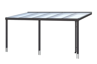 Skan Holz Aluminium Terrassenüberdachung Garda Breite 541 cm