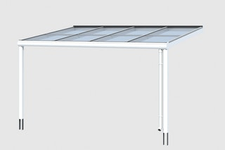 Skan Holz Aluminium Terrassenüberdachung Modena Breite 434 cm