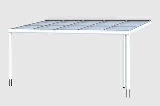 Skan Holz Aluminium Terrassenüberdachung Modena Breite 541 cm