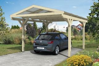 Skan Holz Westerwald Design Einzelcarport aus Leimholz Breite 362 cm