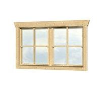 Skan Holz Doppelfenster für 28 mm Blockbohlenhäuser Dreh-Funktion