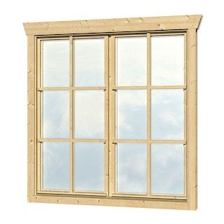 Skan Holz Doppelfenster für 45 mm Blockbohlenhäuser