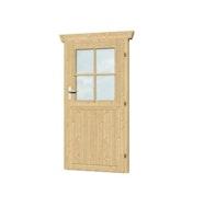 Skan Holz Einzeltür für 28 mm Blockbohlenhäuser