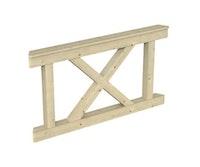 Skan Holz Brüstung Andreaskreuze für Pavillon Versailles