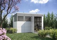 Skan Holz CrossCube Gartenhaus Sydney 4