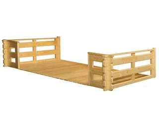 Skan Holz Terrasse für 28 mm Blockbohlenhäuser