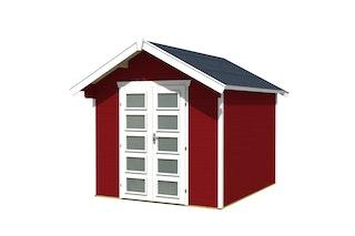 Skan Holz Gartenhaus Hengelo - 28 mm inkl. gratis Fundamentanker/Pads